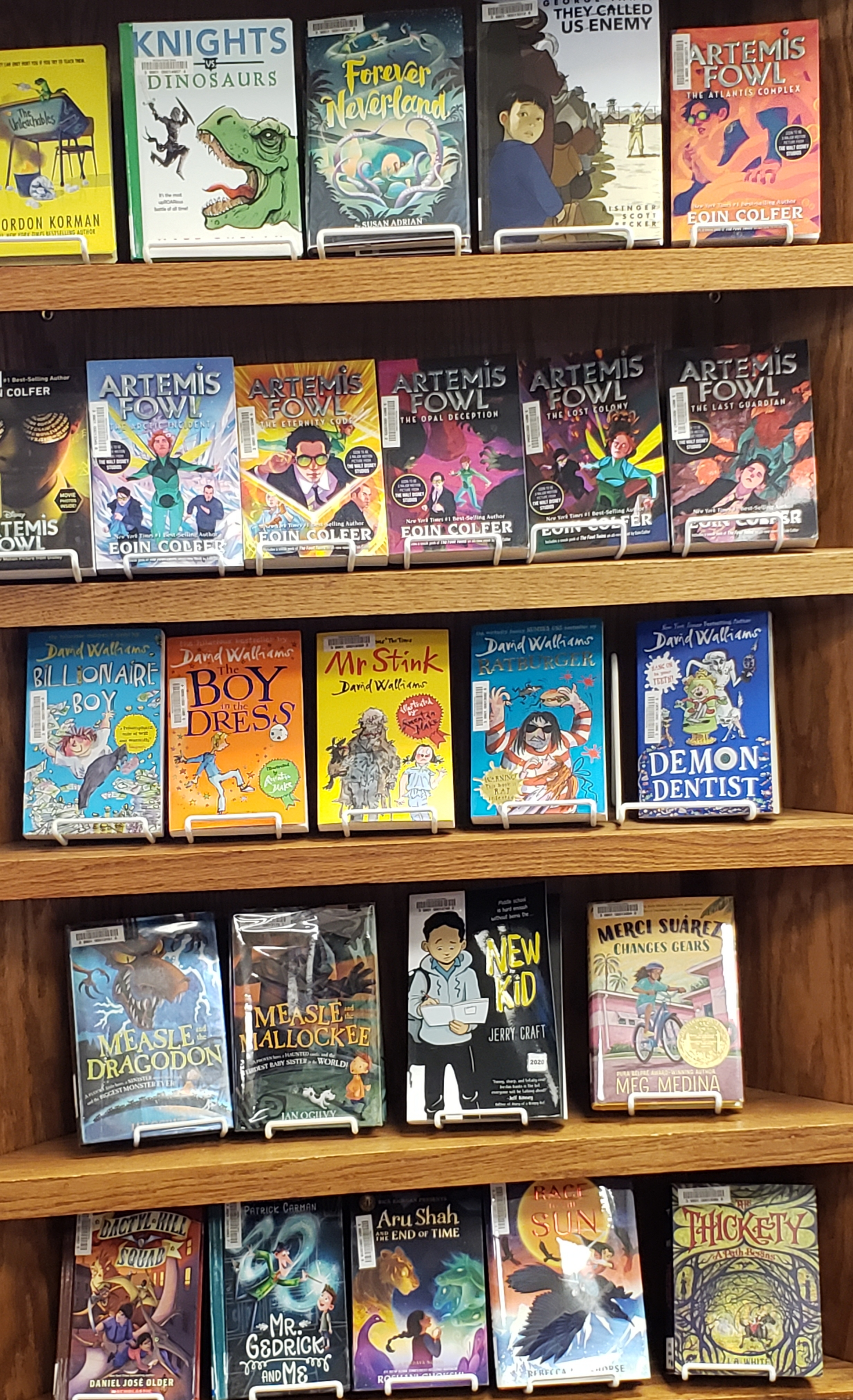 More experienced and confident readers will still find great reads. We get in new books every month!